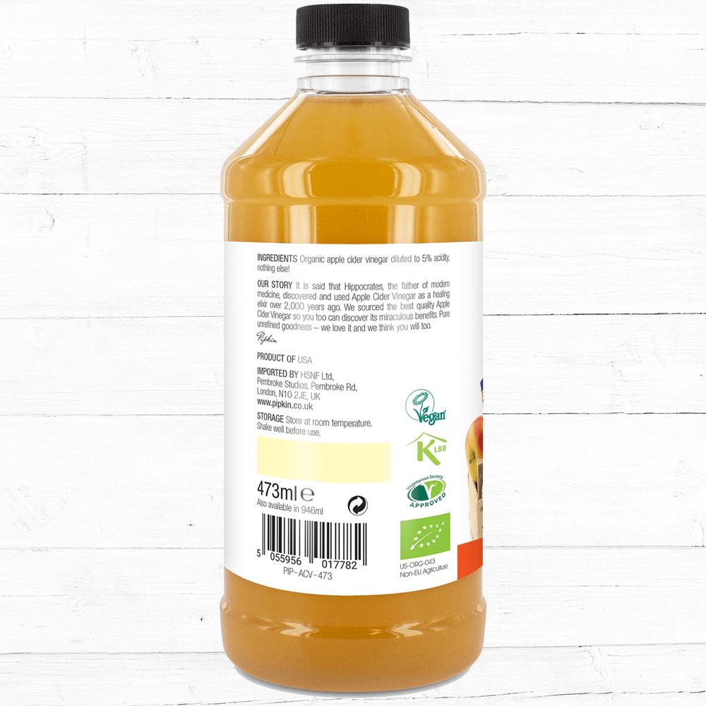 Pipkin Organic Apple Cider Vinegar 473ml Superfoods Bragg 946 Ml 1 2 3 Homeapple Vinegarorganic