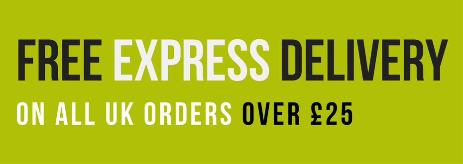Free express delivery on all UK orders over £25