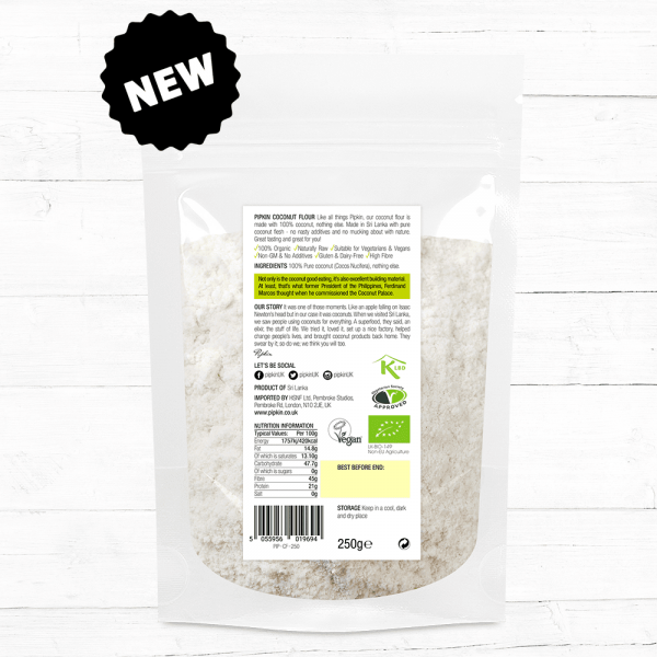 Small Coconut Flour 250g nutritional values