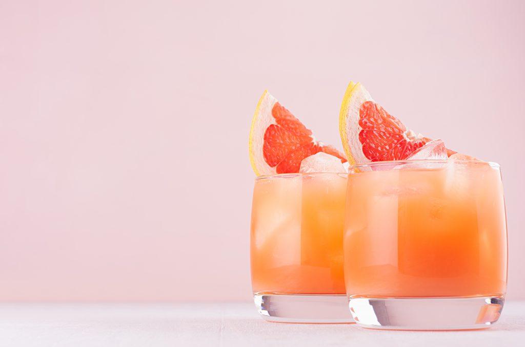 Apple Cider Vinegar with Honey & Grapefruit detox drink.