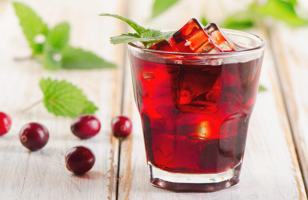 Apple Cider Vinegar with Honey Cranberry Detox drink