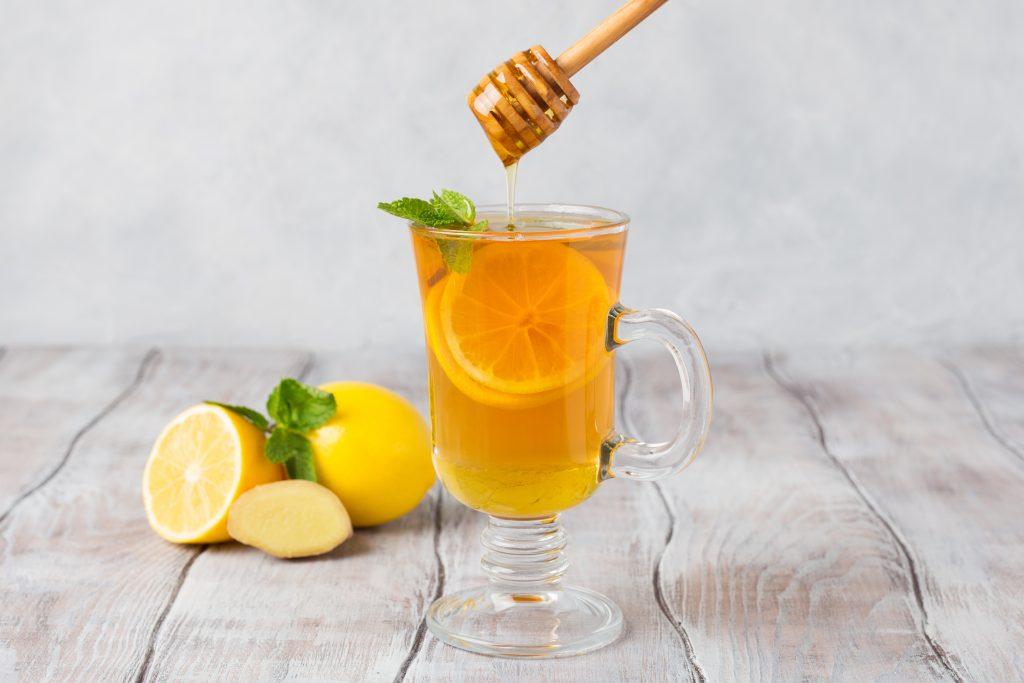 Apple Cider Vinegar with Honey, honey & ginger detox drink