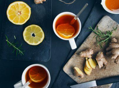 Immune-Boosting Ginger & Lemon Tea