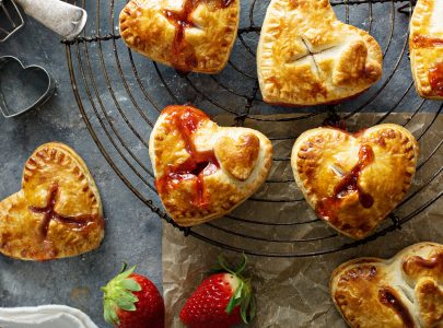 Valentine's Strawberry Pastry Hearts
