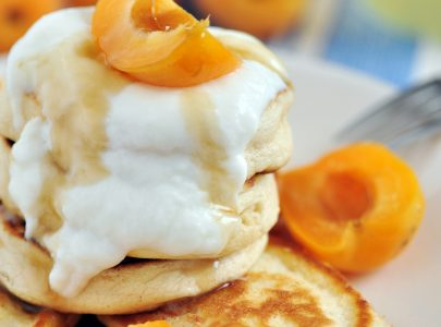 Coconut Flour Pancakes with Toppings